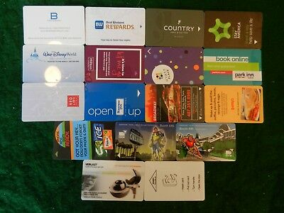Lot Of Seventeen (17) All Different *hotel Room Key Cards*