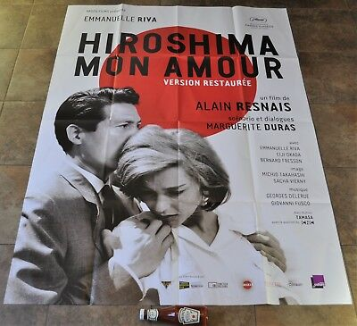 HIROSHIMA MON AMOUR Movie Poster - RARE! MASSIVE - Alain Resnais - Criterion NEW