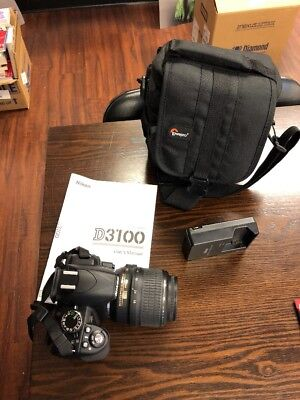 Nikon D3100 18-55mm - Black - Digital SLR Camera with bag Never Used