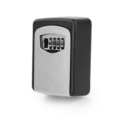 New Digit Wall Organizer Box Safe Security Lock 4 Combination Outdoor Home Key