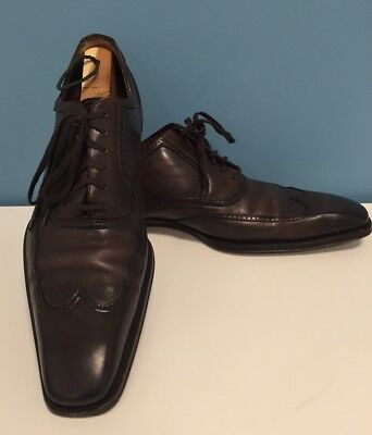 * GUCCI * Anniversary Dark Brown Leather Lace Up Wingtips UK 10 - US 11