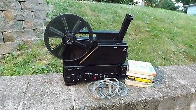 Sears Record/Playback 500 8mm Sound Movie Projector with 5 8mm Movies