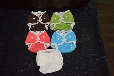 Lot of 5 Thirsties Duo Wraps-Size One Cloth Diaper Cover New Without Tags
