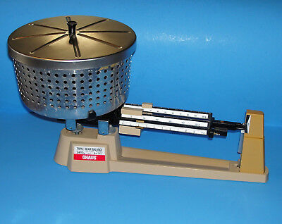 Ohaus 700/800 Series Triple Beam Balance Scale W/sample Bucket 2610 G -5 Lb 2 Oz