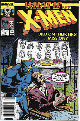 1990 What If X-Men Died On Their First Mission #9 Marvel Comics FREE BAG/BOARD