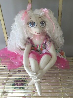 "Handmade cloth art doll ""Emily"" OOAK collectable"