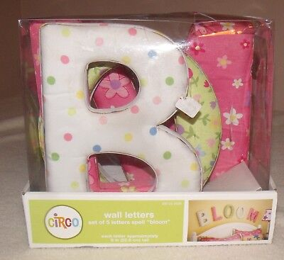 circo padded wall letters spell bloom new in box