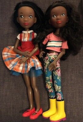 The Prettie Girls! Lot Of 2 Tween Scene Dolls, Kimani And Lena Tonner Dolls