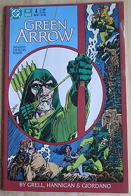 "DC Comics, ""Green Arrow"" 1988  # 4 , Good Condition"