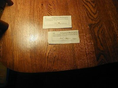 1840s/1860s The Vermont & Massachusetts Railroad Co 1849  $3-$30 Int Certificate