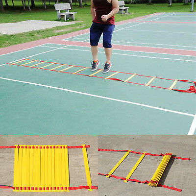 New Agility Ladder Speed Sport Training 8M Soccer Fitness Boxing 21 Rungs Bag Au