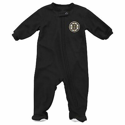 Boston Bruins NHL Baby Infant Boys Long Sleeve Full-Zip Footie Pajamas  0 1d403c3f7