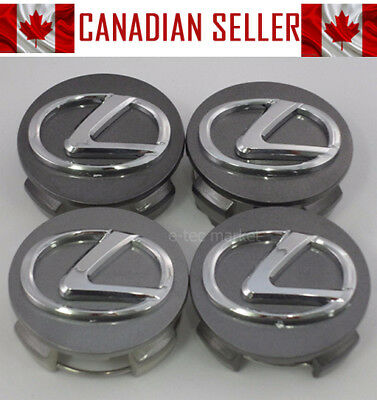 Set of 4 Lexus Wheel Center Caps OEM Graphite (Dark Gray) 62mm - Fits All Models