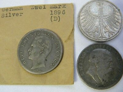 1896 zwei mark, 1905 2 Mark, Lot of 29 German and other countries Coins, LL26