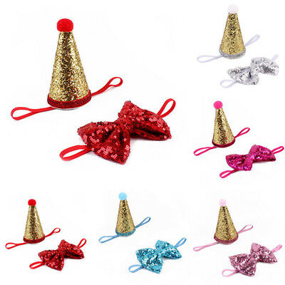 Cute 1Year Old Birthday Hat For Small Dog Pet Puppy Cat Decor Headwear Accessory