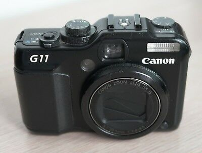 Canon PowerShot G11 10.0MP Digital Camera - Black - Used #4 (scratched lens)