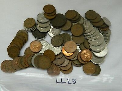 Lot of 112 Canadian Coins, 1859 Victoria 1 Cent,Victoria 5 Cent 1880 1885, LL25