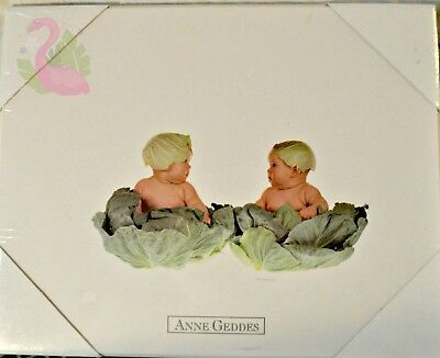Vintage 1991 ANNE GEDDES Cabbage Babies Print Ready to Hang Sealed Picture Baby