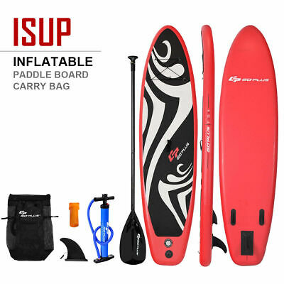 11' Inflatable Stand up Paddle Board Surfboard SUP W/ Bag Adjustable Fin Paddle