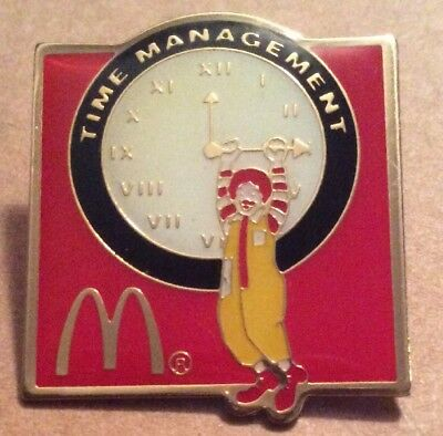 McDonalds Pin Time Management