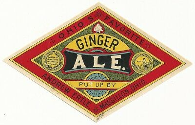 1890's Ginger Ale Label - Massillon, OH - Andrew Ertle