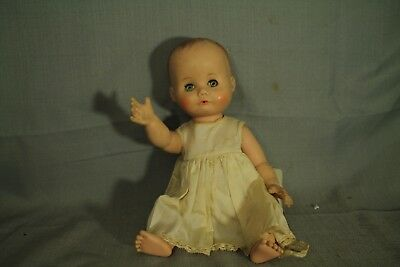 "vintage old Baby Doll MME Alexander 1958 rare 12"" sleepy eyes drink wet"