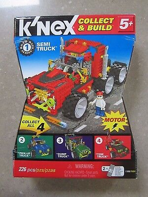 K'NEX Collect & Build Road Rigs Series #1 Semi Truck +Motor Complete in orig box