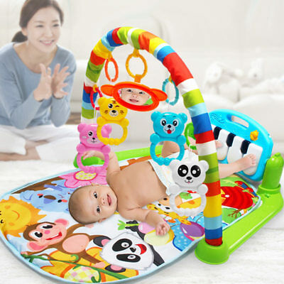Kids Fitness Rack Baby Toys Music Blanket Play Plastic Intellectual Development
