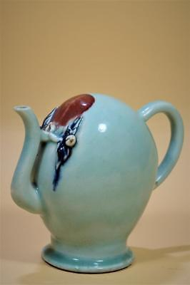 Chinese Underglazed-Blue And Copper-Red  Porcelain Teapot.