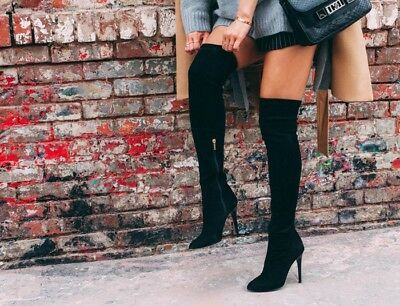 e2aa89cc7d4 JIMMY CHOO SUEDE Thigh High Turner Boots Size 39.5 RRP $2576 AUD