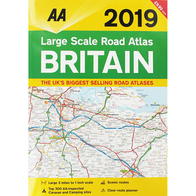 AA Large Scale Road Atlas 2019 (Paperback), Non Fiction Books, Brand New