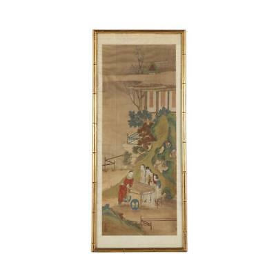 Chinese Watercolor Hand Painting on Silk