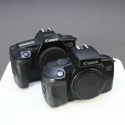~Lot of 2 Canon EOS 35mm Cameras 650 & 750QD UNTESTED (166)