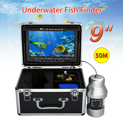 """50M 9"""" 18PCS Infrared LEDS Monitor Underwater Video 8GB DVR 360° Rotating Camera"""