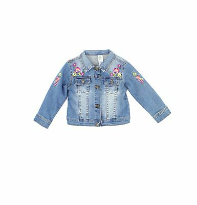Little Me NEW Blue Baby Girls Size 24 Months Embroidered Denim Jacket - 350