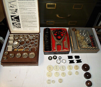 Large Lot Of Vintage Watchmakers Crystal & Case Closing Tools