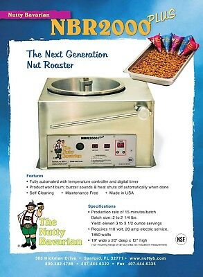 Nutty Bavarian NBR2000 Plus Automated Nut Roaster for roasting and glazing nuts.