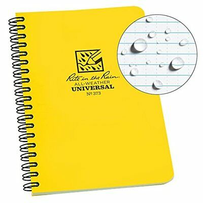"""Rite in the Rain All-Weather Side-Spiral Notebook, 4 5/8"""" x 7"""", Yellow Cover"""