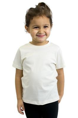 Organic Short Sleeve Crew Tee for Girls & Boys - Size 6