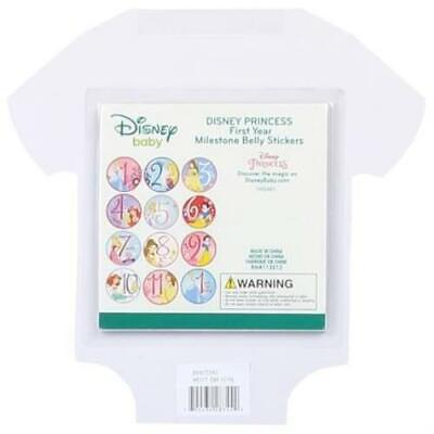 Princess First Year Milestone Belly Stickers for Baby Girls