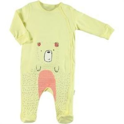 Kujju Long Sleeve Bear Embellished Bodysuit With Booties for Toddler Boys