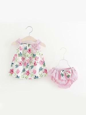 2 Piece Duck Print Slip Dress Shorts Set for Toddler Girls