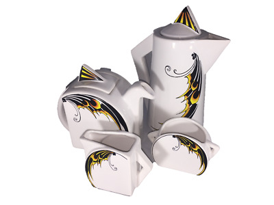 Art Deco Inspired Butterfly Wing Design Tea/Coffee Set