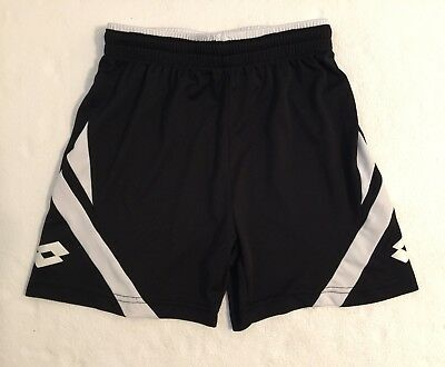 Youth Lotto Athletic Black Soccer Shorts, XS