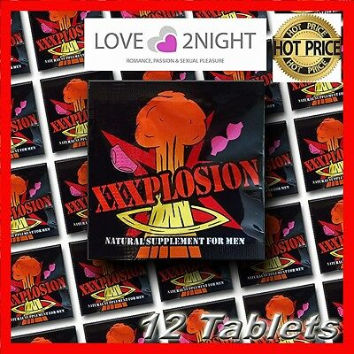 XXXPLOSION / Male Enhancement Sex Pills / 12 Tablet Pack / LOVE 2NIGHT