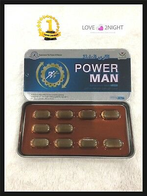 POWER MAN / Male Enhancement Sex Pills / Natural 10 Tablets / LOVE 2NIGHT