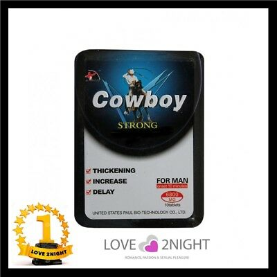 Cowboy Strong For Men  / Male Enhancement Sex Pills / 10 Tablets / LOVE 2NIGHT