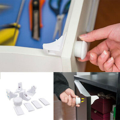 8pcs Magnetic Baby Kids Pet Proof Cupboard Cabinet Drawer Safety Lock