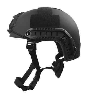 HIGH CUT Ballistic Helmet (Special Forces,)  Level IIIA Black Helmet