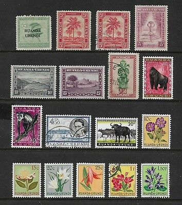 RUANDA-URUNDI mixed collection No.2, 1924-1959, used & mint MH MNG
